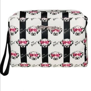 Betsey Johnson Dbl Zip Cosmetic Bag